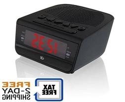 c224b dual alarm clock am fm radio