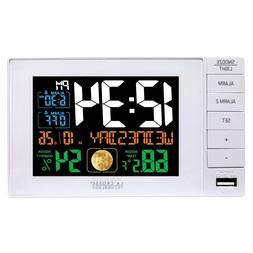C87061 La Crosse Technology Dual Alarm Clock with USB Chargi