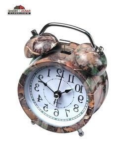 Camouflage Old Fashioned Analog Alarm Clock - NEW