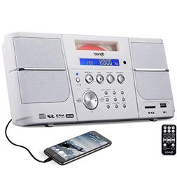 DPNAO CD Player Boombox Portable with FM Radio Alarm Clock U