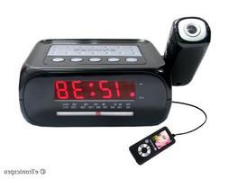 CEILING WALL PROJECTION PROJECTOR ALARM CLOCK RADIO/ iPOD MP