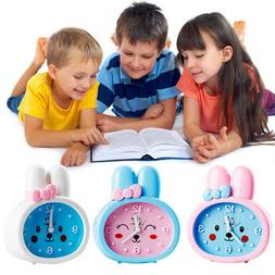 Children Alarm Clock Cute Rabbit Battery Student Desk Clocks