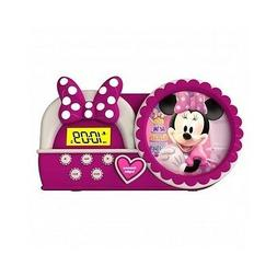 Children Alarm Clock Disney Minnie Mouse Night Glow Table Wa