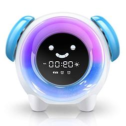 BestXiuyi Children Sleep Training Alarm 7 Changing Colors Te