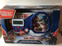Marvel Civil War Night Glow Alarm Clock Captain America Iron