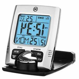 MARATHON CL030023 Travel Alarm Clock with Calendar & Tempera