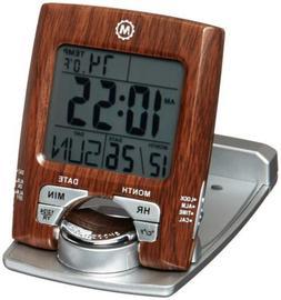 Marathon CL030023WD Travel Alarm Clock Calendar Temperature