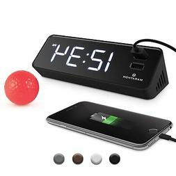 Marathon USB Clock Charger With 2 Front Charging Ports. Hote