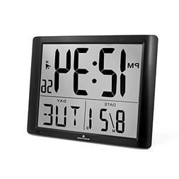 Marathon Small Compact Alarm Clock with Repeating Snooze, Li