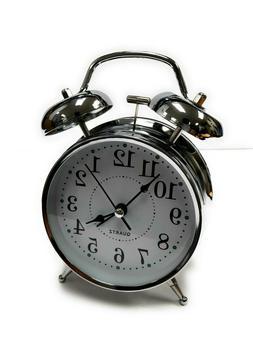 classic metal chrome loud analog alarm clock