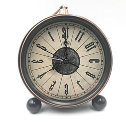 "JUSTUP 5.5"" Classic Retro Clock, European Style Vintage Sile"