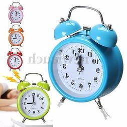 Classic Silent Double Bell Alarm Clock Quartz Movement Bedsi
