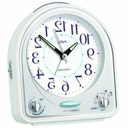 SEIKO CLOCK Alarm clock Analog 31 tune melody alarm PYXIS Wh