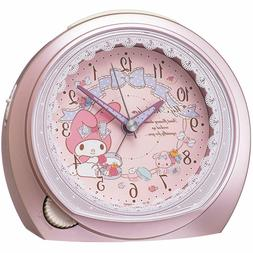 SEIKO Clock Alarm Clock My Melody Analog Pink Metallic Kawai