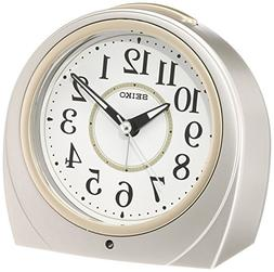 SEIKO CLOCK  automatic lights alarm clock  Round KR888S by S