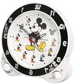 Seiko clock character alarm clock Mickey Mouse plastic frame