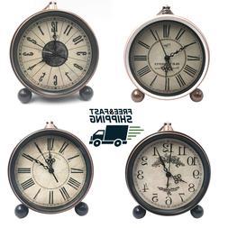 Clock Classic Retro European Style Vintage Silent Desk Alarm