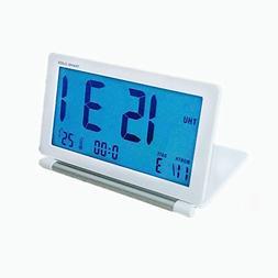 KLAREN Travel Clock,Multifunctional Silent LCD Mini Digital
