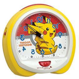 Seiko Clock Pokemon Quartz Alarm Cq421Y Character Yellow Ana
