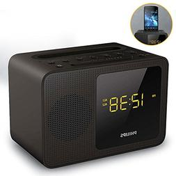Philips Clock Radio AJT5300 Bluetooth Universal Charging Dua