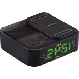 RCA Clock Radio with Soundflow Wireless Audio and USB Chargi