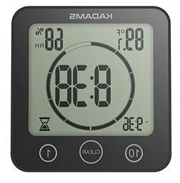KADAMS Digital Bathroom Shower Kitchen Wall Clock Timer with