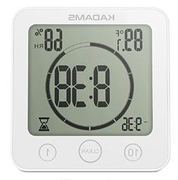 KADAMS Digital Clock Timer with Alarm, Waterproof for Water