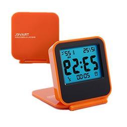 Travel Clock,eBoTrade Alarm Clock Battery Operated Portable