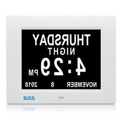 Digital Clocks With Date And Day Big Clear Time Display Memo