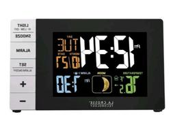 color alarm clock with temperature and usb