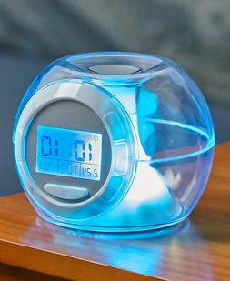 Color-Changing Alarm Clock with Nature Sounds Temperature Ti