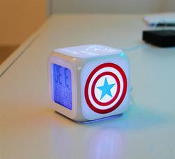 Color Changing Digital Alarm Clock Superhero Captain America
