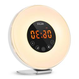 Color Changing LED Table Wake-Up Light With FM Radio Alarm C