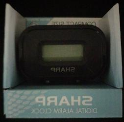 Sharp Compact travel Alarm Clock battery powered