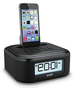 iHome Stereo FM Clock Radio with Lightning Dock To Charge/Pl