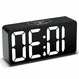 DreamSky Compact Digital Alarm Clock with USB Port for Charg