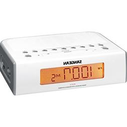Sangean Compact AM/FM Dual Alarm Clock Radio with Large Easy