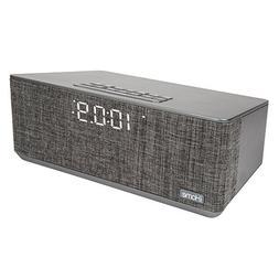 iHome Compact Bluetooth Dual Alarm Clock Radio with Large Di