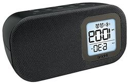 iHome Compact Bluetooth Dual Alarm Clock Radio with Large Di