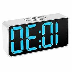 Compact Digital Alarm Clock , Adjustable Brightness Dimmer,B