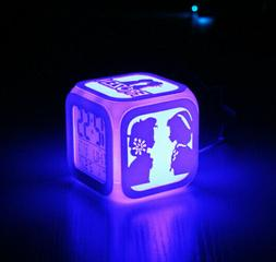 Cool Color Changing LED Digital Cartoon Princess Alarm Clock