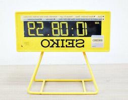 Seiko Countdown Style LCD digital Alarm Clock QHL062Y beep s