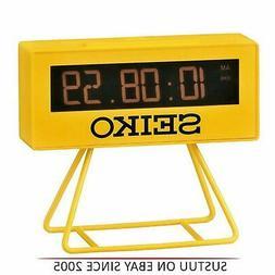 Seiko Countdown Style Sports Timing Clock - Yellow Analog QH