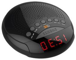 QFX CR30 AM/FM LED 2 Alarm Clock Radio