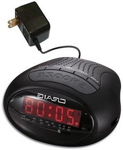 Craig Electronics CR41483 BLU Clock Radio/LED DSP - Quantity