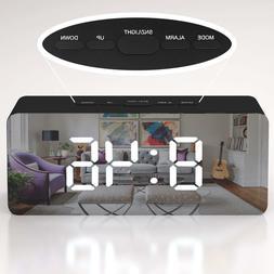Creative LED Digital Alarm Clock Night Light Thermometer Dis