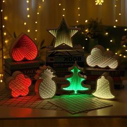 Creative Novelty Shapes Tunnel Mirror LED Light Night Lamp H