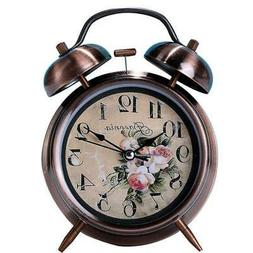 Creative Silent 4 Inch Alarm Clock Simple Bedroom Rose Gold