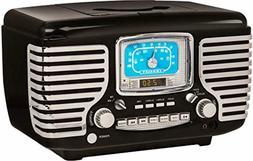 Crosley CR612D-BK Corsair Retro AM/FM Dual Alarm Clock Radio
