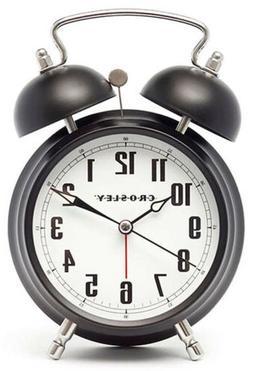 Crosley Twin Bell Quiet Sweep Vintage Metal Alarm Clock  330